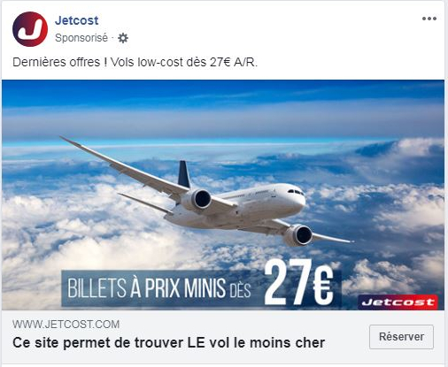 Publicité display facebook