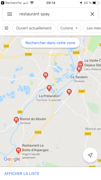 Google Maps Le Prelandon